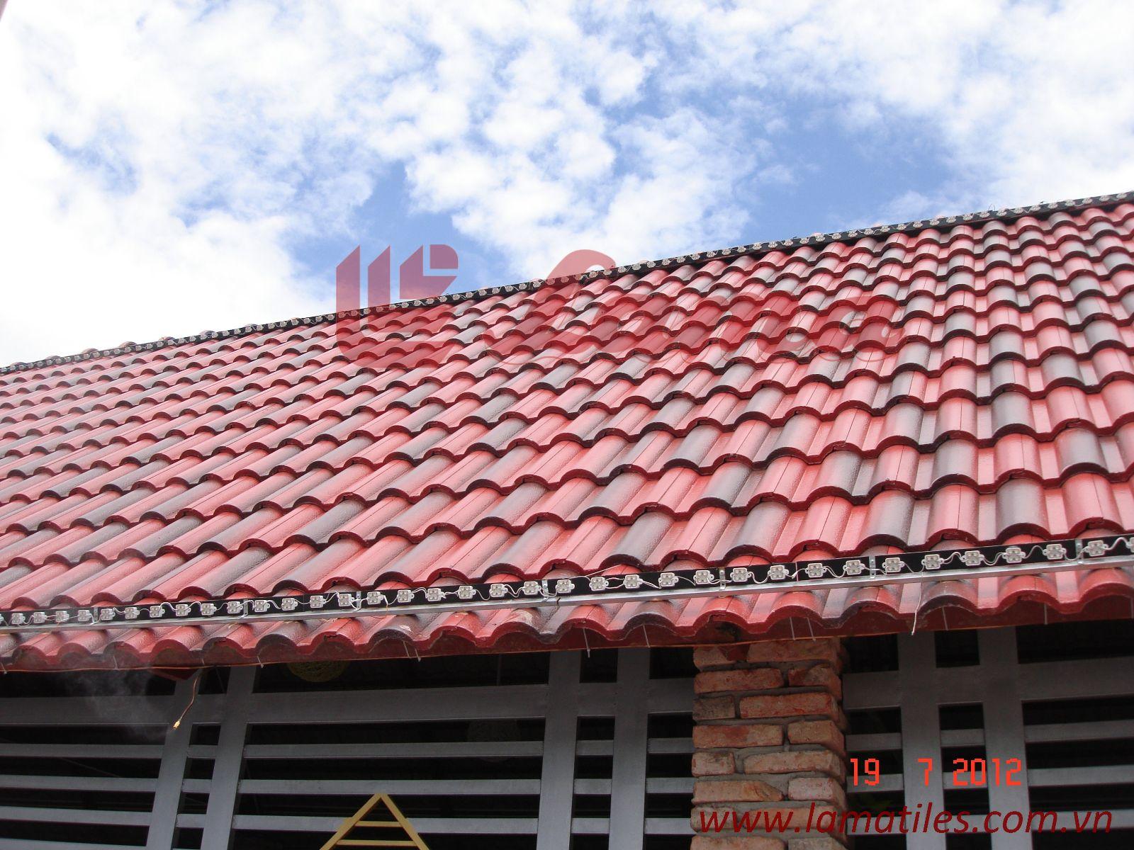 ngói màu xi măng, ngói lama, công trình mái nhà siêu nhẹ